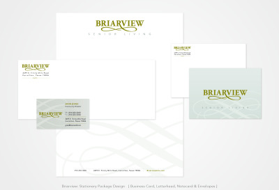 Briarview Senior Living: Stationery Package