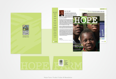 Hope Farm: Pocket Folder and Newsletter