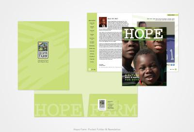 Hope Farm: Pocket Folder and Newsletter