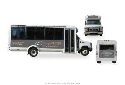 The Westmore Senior Living: Bus Wrap design