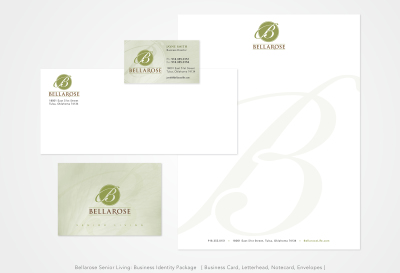 Bellarose Senior Living: Business Identity Package [ Business Card, Letterhead, Notecard, Envelopes ]