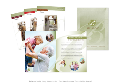 Bellarose Senior Living: Marketing Kit [ Floorplans, Brochure, Pocket Folder & Inserts ]