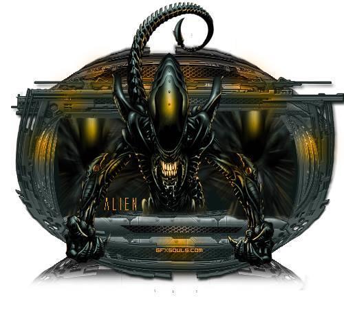 Alien Graphic Art