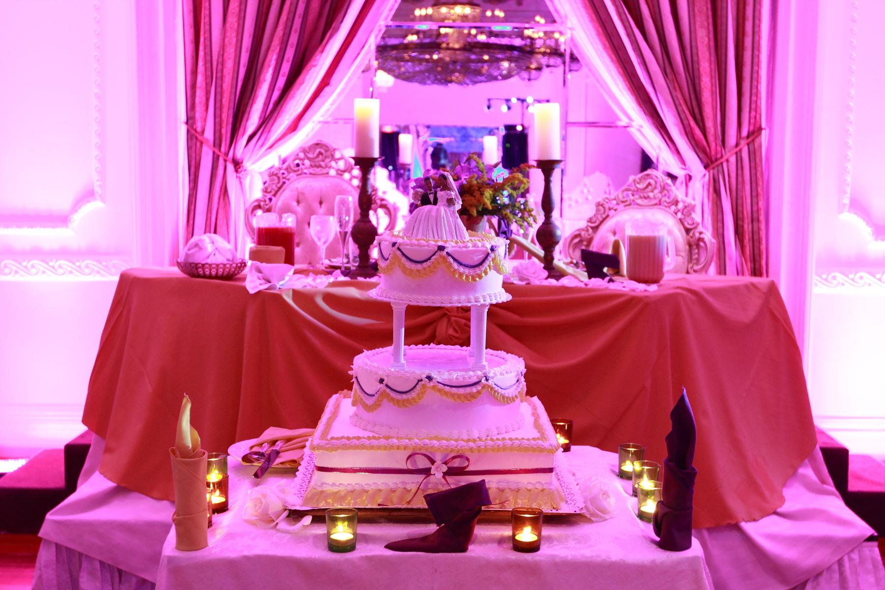 Wedding cake, Brooklyn Grand Prospect ballroom