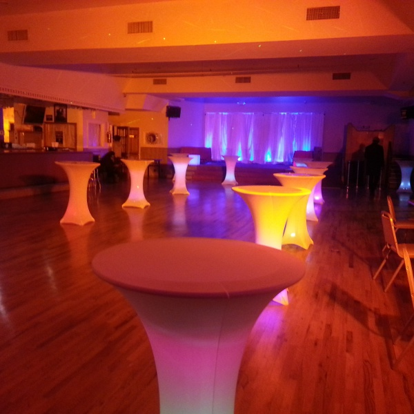 Led cocktail tables, cocktail tables,party lights, Brooklyn event