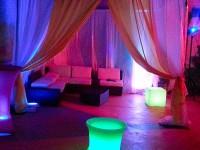 Cabana rental led cubes rental Brooklyn lighting rental event lighting