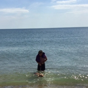 My first swim in the sea