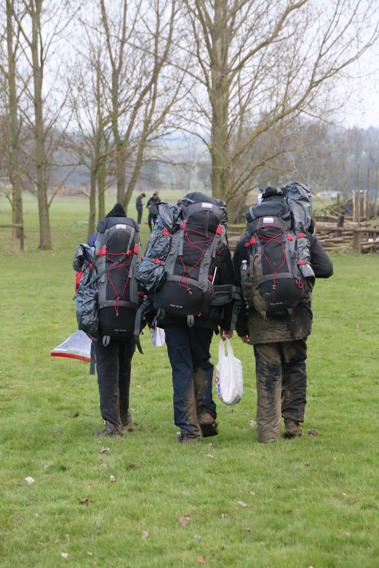 Arriving at Campsite