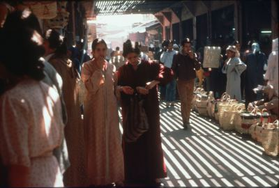 The market place in Morocco