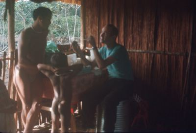 Richard in the Amazon tribe as a young man!
