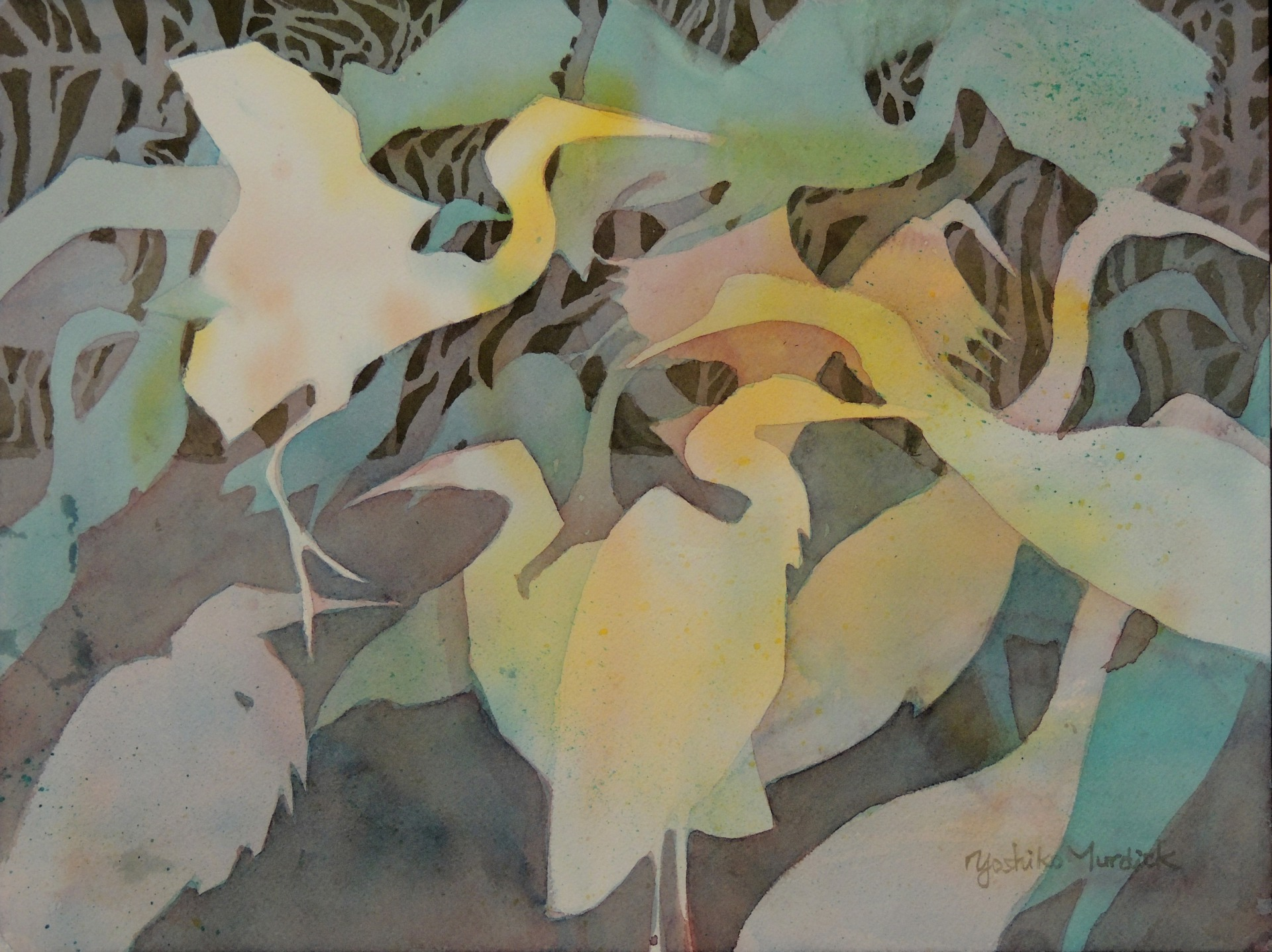 Egrets in Abstract (2014)