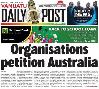 Organisations petition Australia