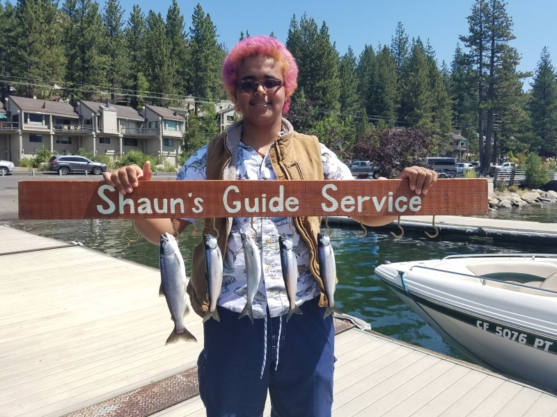Donner lake fishing report 8-18-17 morning