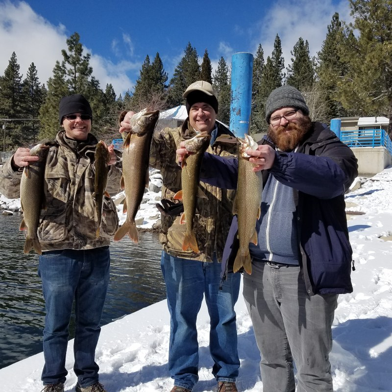 Donner lake fishing report 2-23-18