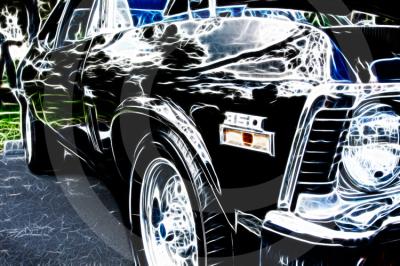 """LKPhipps; """"car art""""; """"muscle car"""" ; nova; print; metallic; framed; art"""
