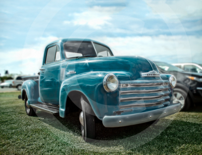 "LKPhipps; ""car art""; ""old truck""; chevy; print; metallic; framed; art"