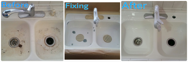 Repaired Kitchen Sink