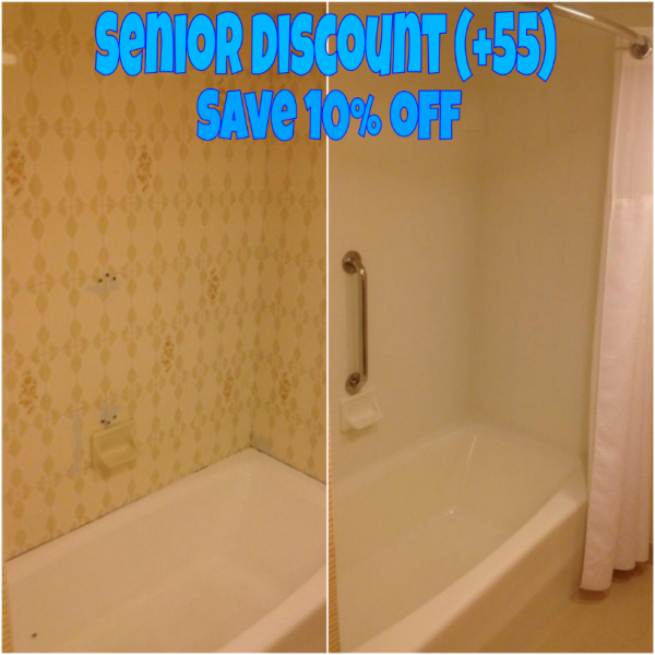 Senior Discount (+55) off Full Reglaze