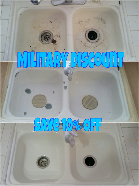 Military Discount with Full Reglaze