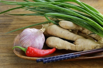 Our Authentic Fresh Ingredients; Garlic, Ginger and Chilli