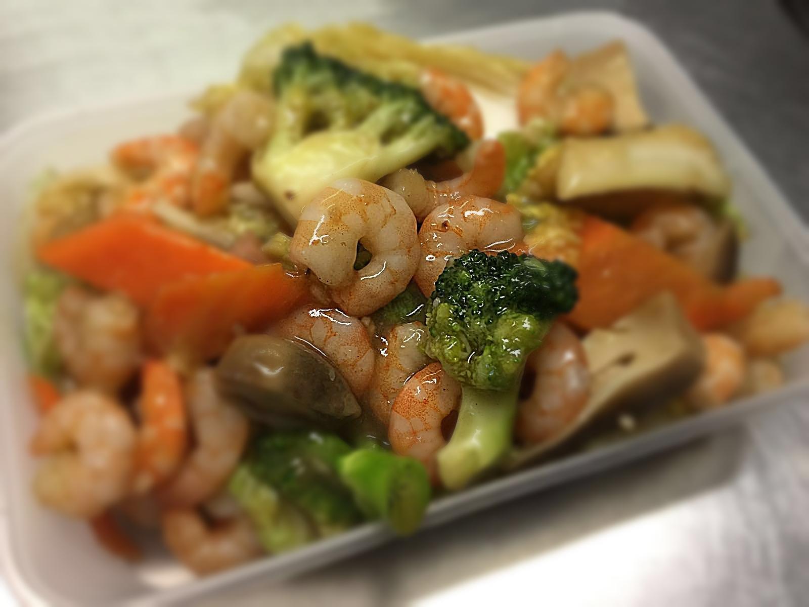 Shrimps & Mixed Vegetables