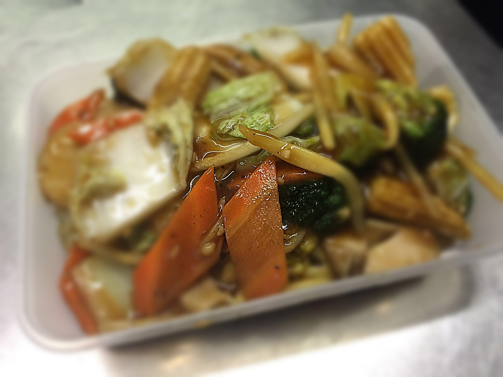 Mixed Vegetables in Satay Sauce