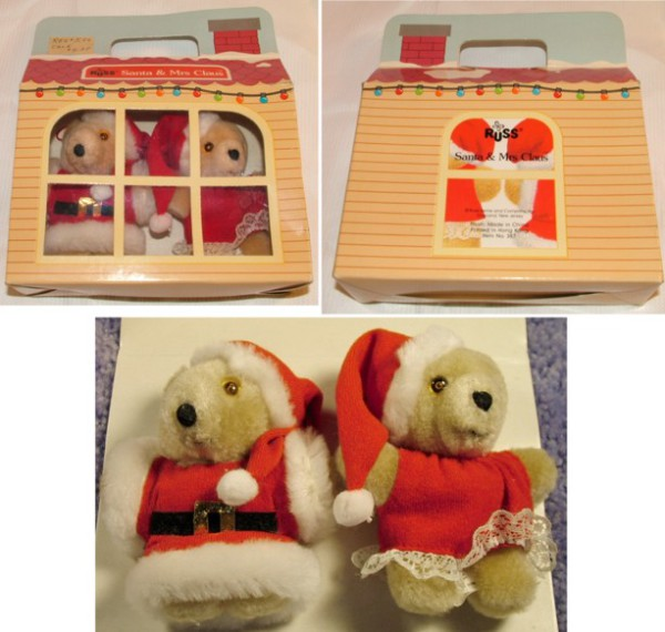 Russ Christmas Bears, Teddy Bears, Holiday bears, Christmas Ornaments, Christmas Decorations, Russ Berrie