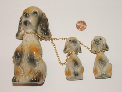 Dog, Spaniel, Cocker Spaniel, Puppies, Figurines, Models, Collectibles, Canine, Pets,