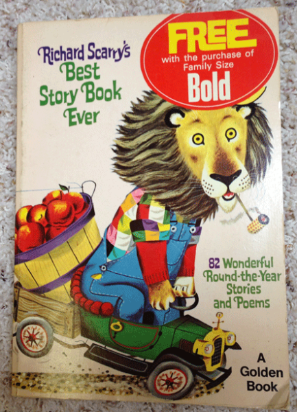 1968, Richard Scarry, Promotional Collectible, Children's Books, Golden Books, Free with Purchase of Bold, Best Story Book Ever