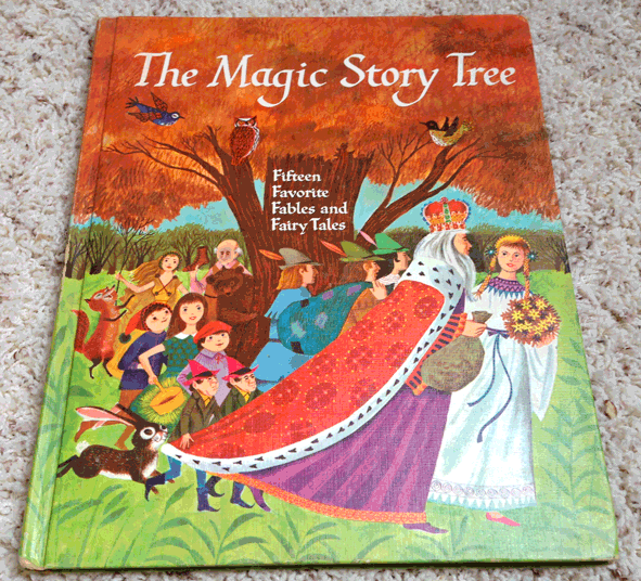 Children's Book, Hardcover, 1964, The Magic Story Tree, Lucille and H.C. Holling, Fairy Tales, Full color artwork