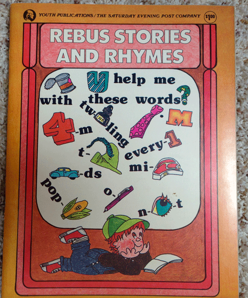 Youth Publications, The Saturday Evening Post Company, 1977, Rebus Stories and Rhymes,  Playmate Magazine, Child Life Magazine,  Jack and Jill Magazine
