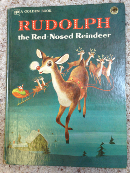 Rudolph, Red-Nosed Reindeer, Christmas Books, A Golden Book, 1974, Golden Press, Richard Scarry, Barbara Shook Hazen