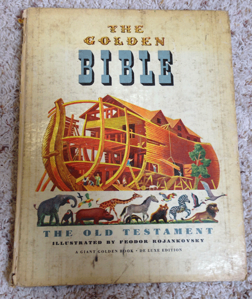 Golden Books, Bible Stories, Christian, The Old Testament, 1946, First Edition, Children's Books, The Golden Bible, Feodor Rojankovsky, Elsa Jane Werner, Golden Press