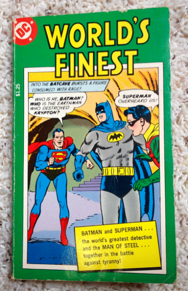 DC Comics, 1978, A Tempo Books Original, Grosset and Dunlap, A Filmways Company, World's Finest, Batman, Superman, Boy Wonder, Robin, Man of Steel,