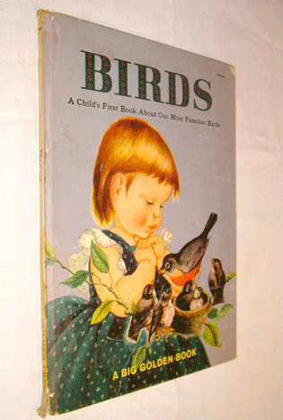 Birds, A Child's First Book About Our Most Familiar Birds, A Big Golden Book, 1958, Children's Books, Bird Guide, American Birds, Wild Birds, Golden Press, First Edition