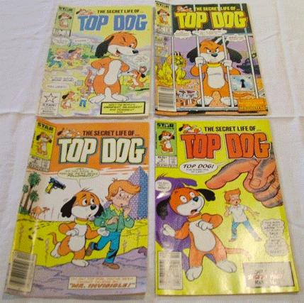 Top Dog, 1985, Star Comics, Top Dog Vol. 1, No. 4, November 1985, Top Dog Vol. 1, No. 1, April 1985, Top Dog Vol. 1, No. 3, August 1985,  Top Dog Vol.1, No. 5, December 1985, Marvel Comics Group,