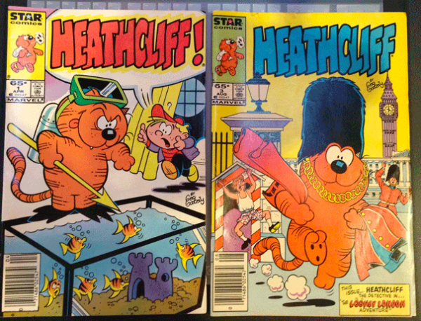 Heathcliff Comics, Star Comics, Heathcliff Vol. 1, No. 3, August 1985, Heathcliff Vol. 1, No. 1, April 1985, Marvel Comics Group