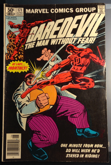 Daredevil Vol. 1, No. 171, June 1981, Marvel Comics Group, Stan Lee