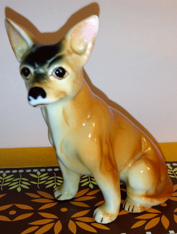 China Dog, Porcelain Dog, Ceramic Dog, Chihuahua,