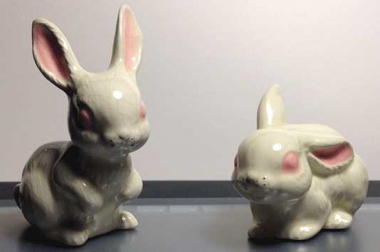 Rabbits, Bunnies, Hares, White Rabbit, Porcelain Rabbits, Glazed Rabbits, China Rabbits,