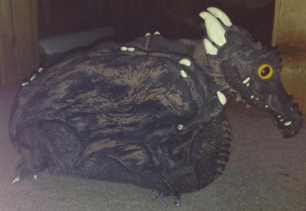 Morris, 1994, Latex dragon, Dragon, Costume Accessories, Dragon for shoulder, wear on shoulder