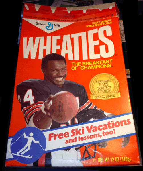 Walter Payton, Wheaties, Sports, Football, 1987, Chicago Bears
