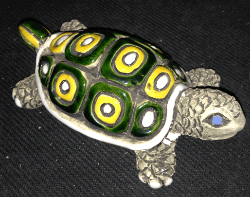 Tortoise, Turtle, Clay, Glazed, Sculpture,
