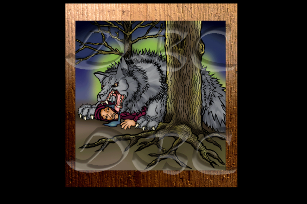 Wolf in Woods