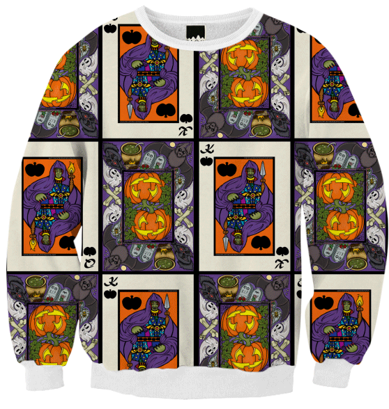 Halloween, Pumpkins, King of Halloween, Queen of Halloween, Print All Over Me, pattern