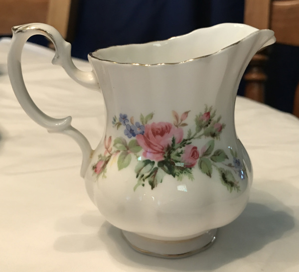 Royal Albert Bone China, Moss Rose Pattern, Milk Pitcher