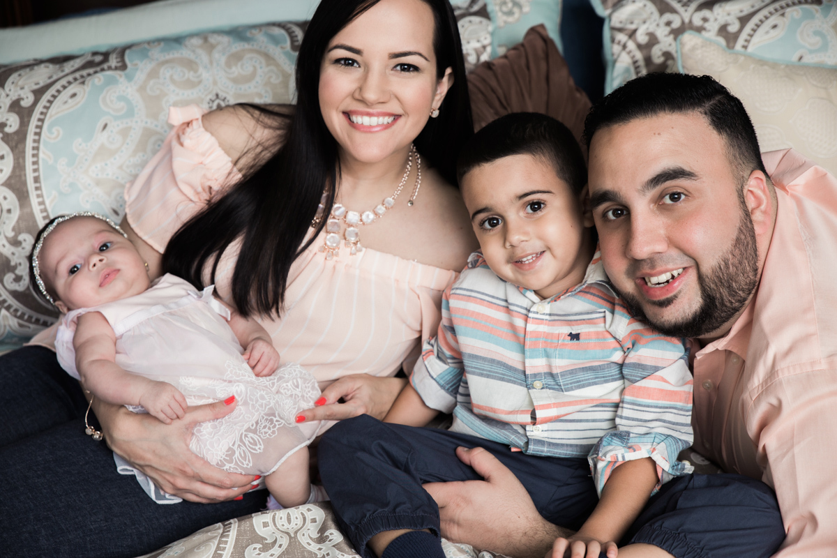 indoor family portrait session