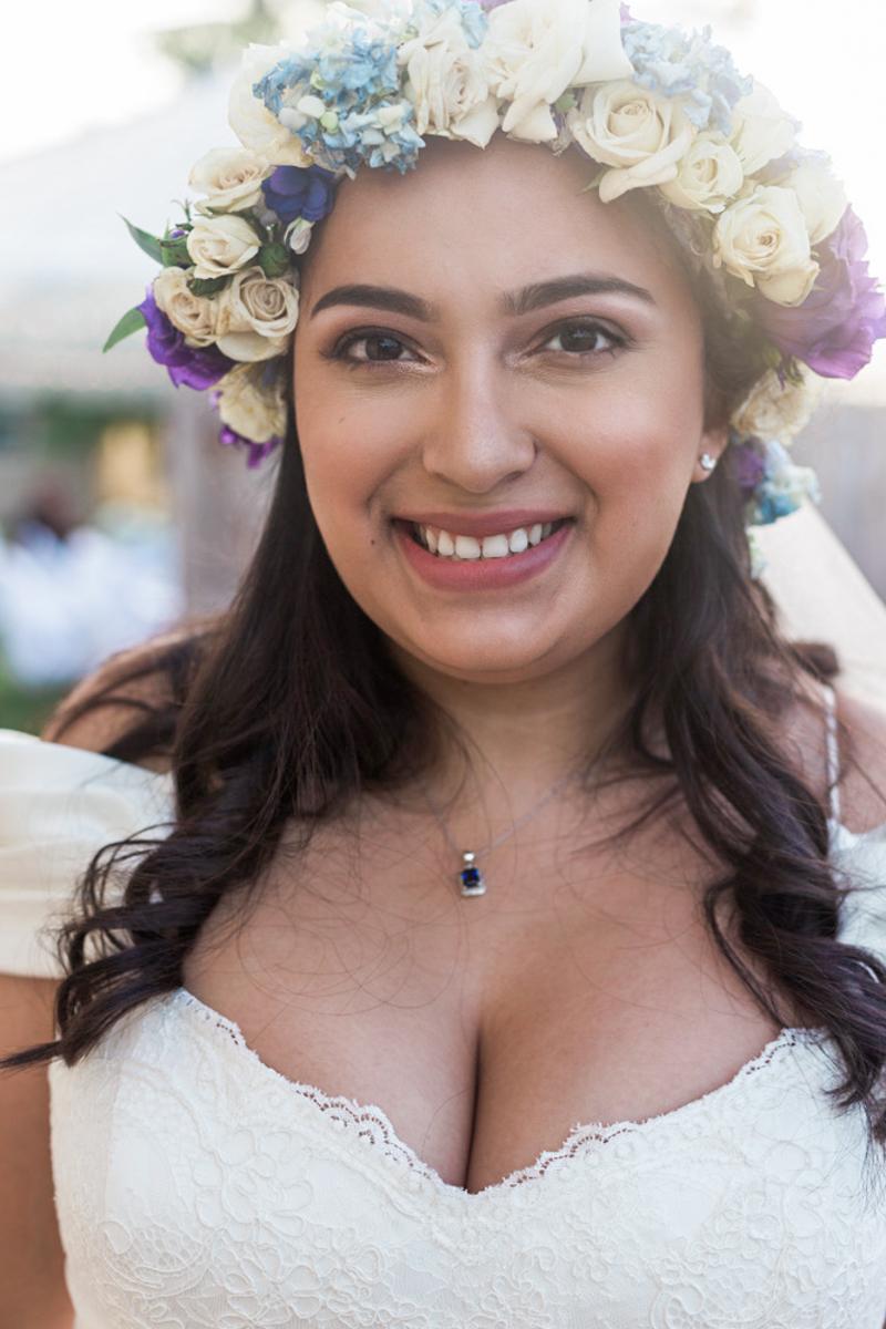 bride flowers headpiece