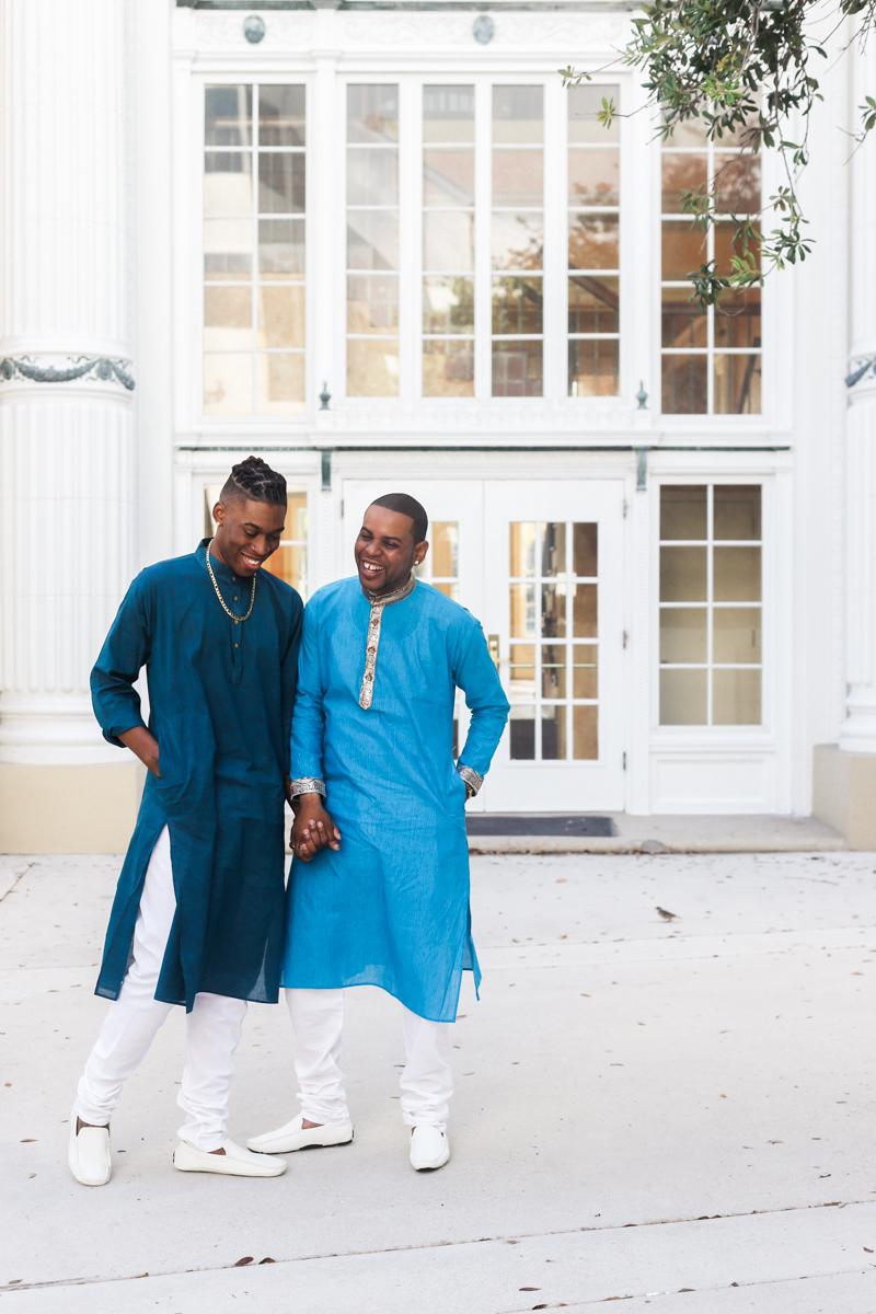 elopement miami beach court house same-sex couple