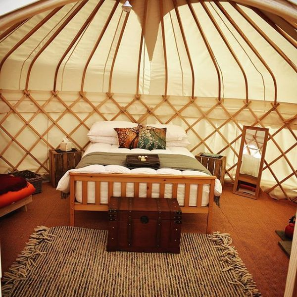 Inside Our Yurts